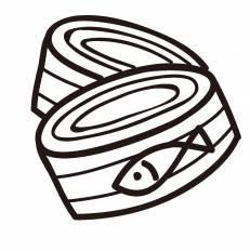 ツナ缶シルエット イラストの無料ダウンロードサイトシルエットac