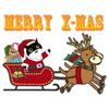 Quang Tran Vinh - Black Cat At Christmas Sticker artwork