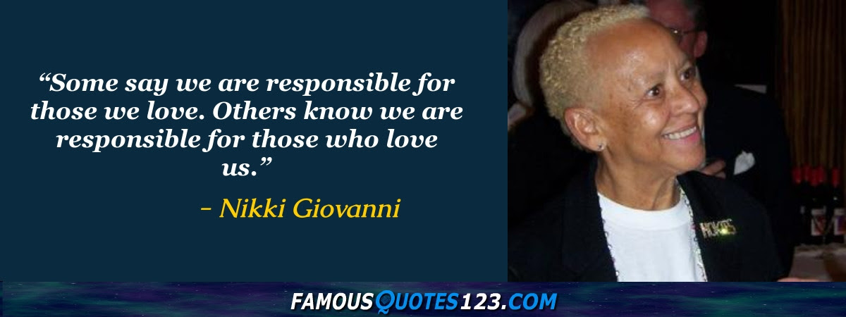Nikki Giovanni Quotes Famous Quotations By Nikki Giovanni