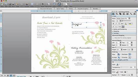 How to Make Wedding Invitations in Microsoft Word   YouTube