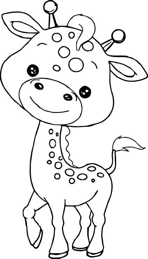 awesome baby jungle  animal coloring page