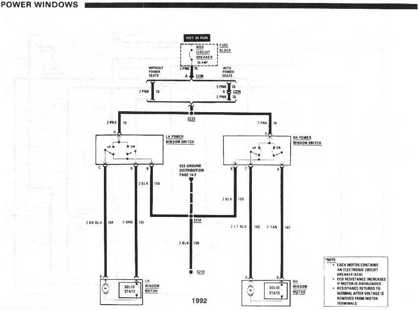 92 Chevy Van Power Window Switch Wiring Diagram