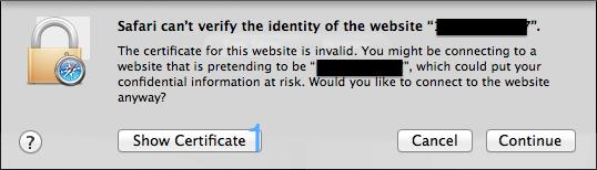 Safari 证书 1