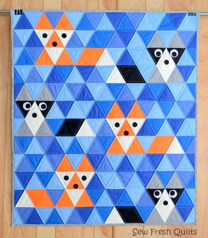Fox & Friends ... by Lorna McMahon | Quilting Pattern - Looking for a quilting pattern for your next project? Look no further than Fox & Friends Triangle Quilt from Lorna McMahon! - via @Craftsy