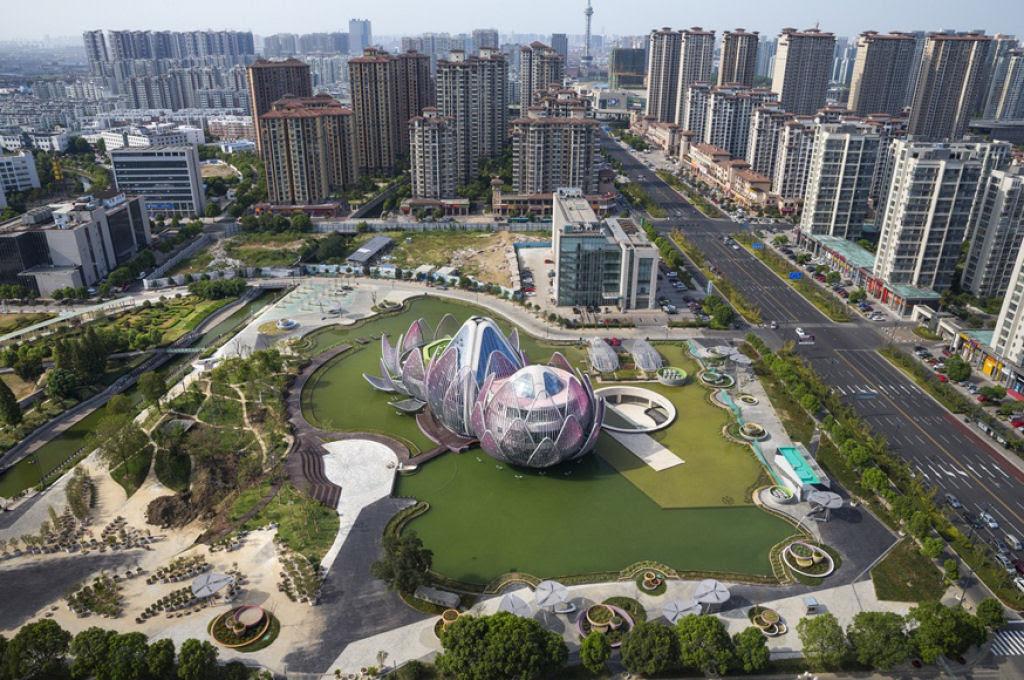 O edifício em forma de flor lótus em Wujin, na China 02