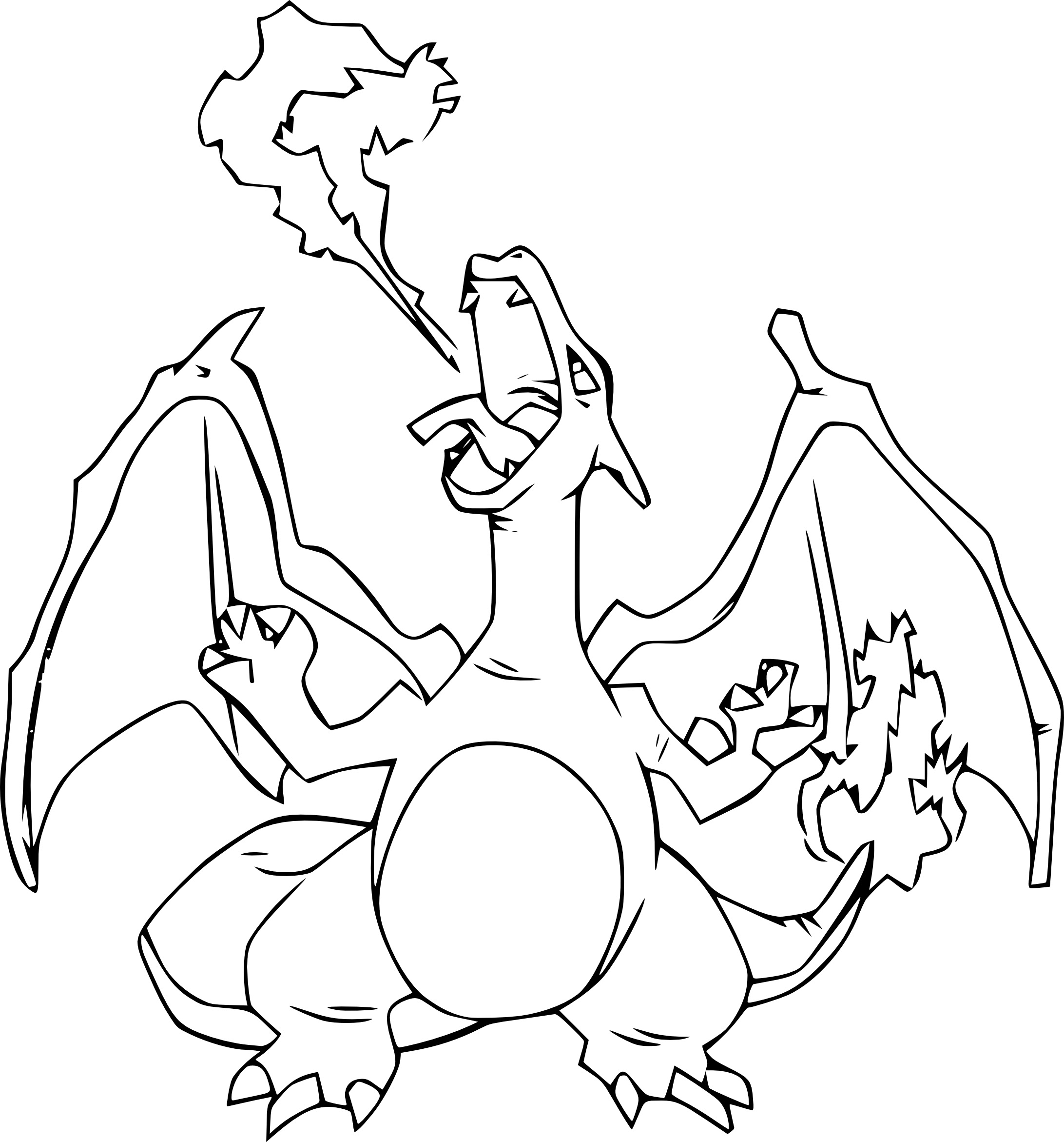 Coloriage Dracaufeu Pokemon