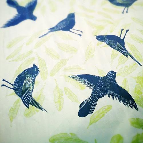 Cream Bird Scarf
