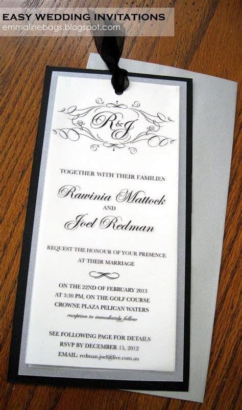 Emmaline Bags & Patterns: DIY Wedding Invitations! I made