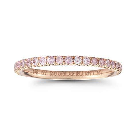One Point Fancy Intense Pink Diamond Eternity Band 18k