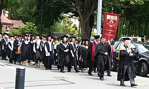 Academic procession at the :en:University of C...
