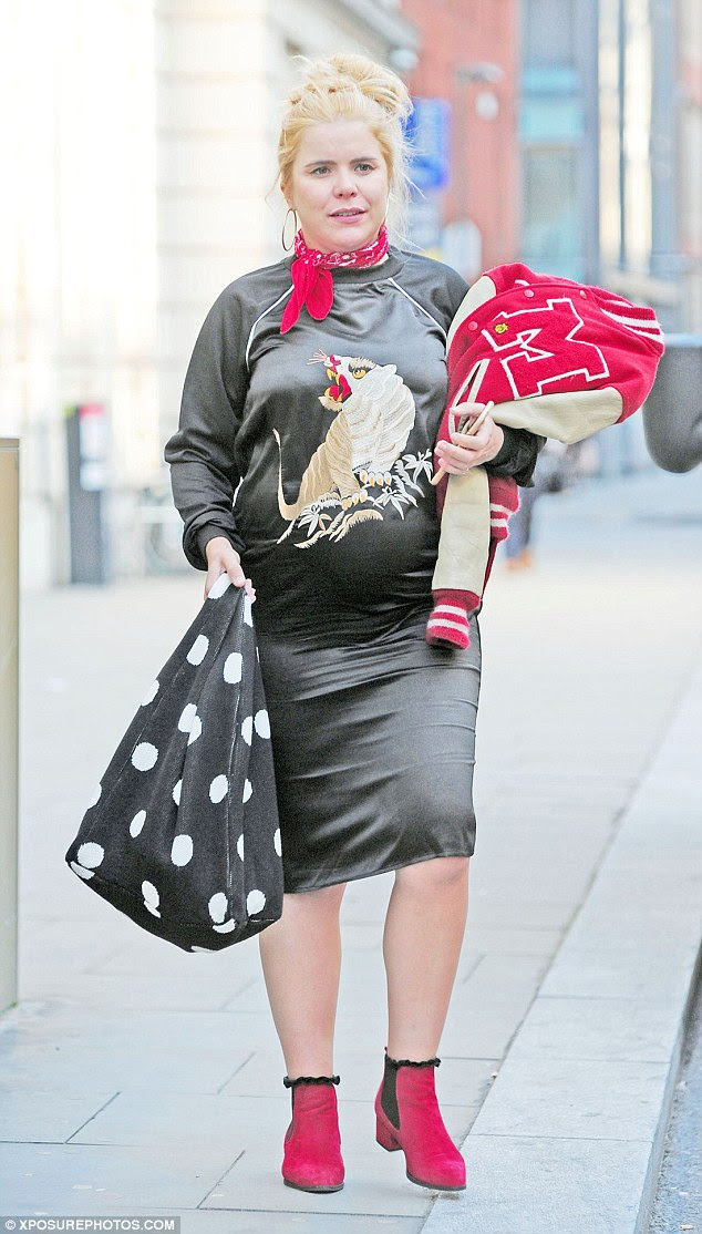 On its way! Paloma Faith appears to be delighting in her pregnancy as she was seen enjoying a jaunt around London's Soho with a pal on Wednesday