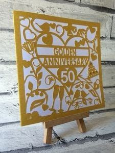 50th Golden Wedding Anniversary Card SVG format   Tina's