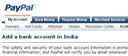Withdraw PayPal Money Directly to Bank Account in India