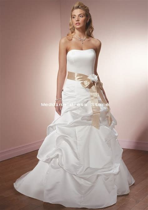 Duchess Satin Ribbon white ivory wedding dress ? Wholesale
