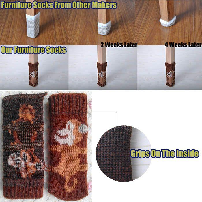 Cheap Chair Leg - Best Pack of 20 Chair Leg Socks Cheerful Monkey