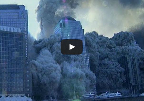 Σπάνιο βίντεο από την κατάρρευση των Δίδυμων Πύργων