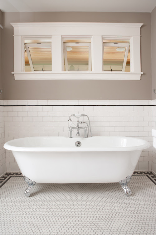 Classic Subway Tile Bathtub Surround traditional bathroom