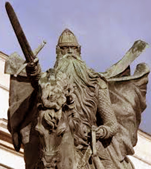 a statue of El Cid