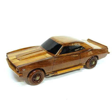 Chevrolet Camaro Wood Car Model   Wooden Hand Carved Car