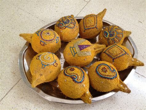 Decorated coconut thambulam   Indian Festivals   Indian