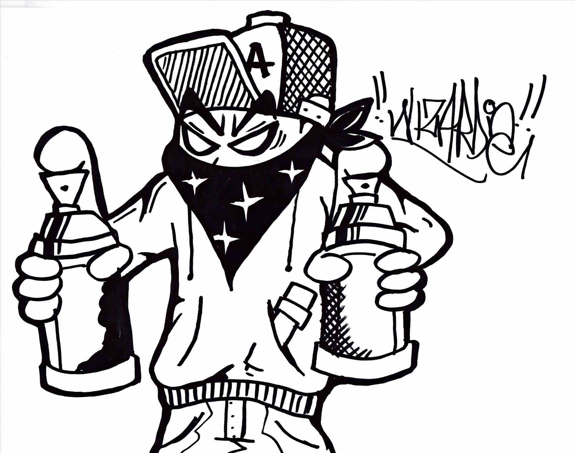 Cartoon Gangsta Swag Coloring Pages Coloring And Drawing