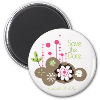 Floral Save the Date Magnet magnet