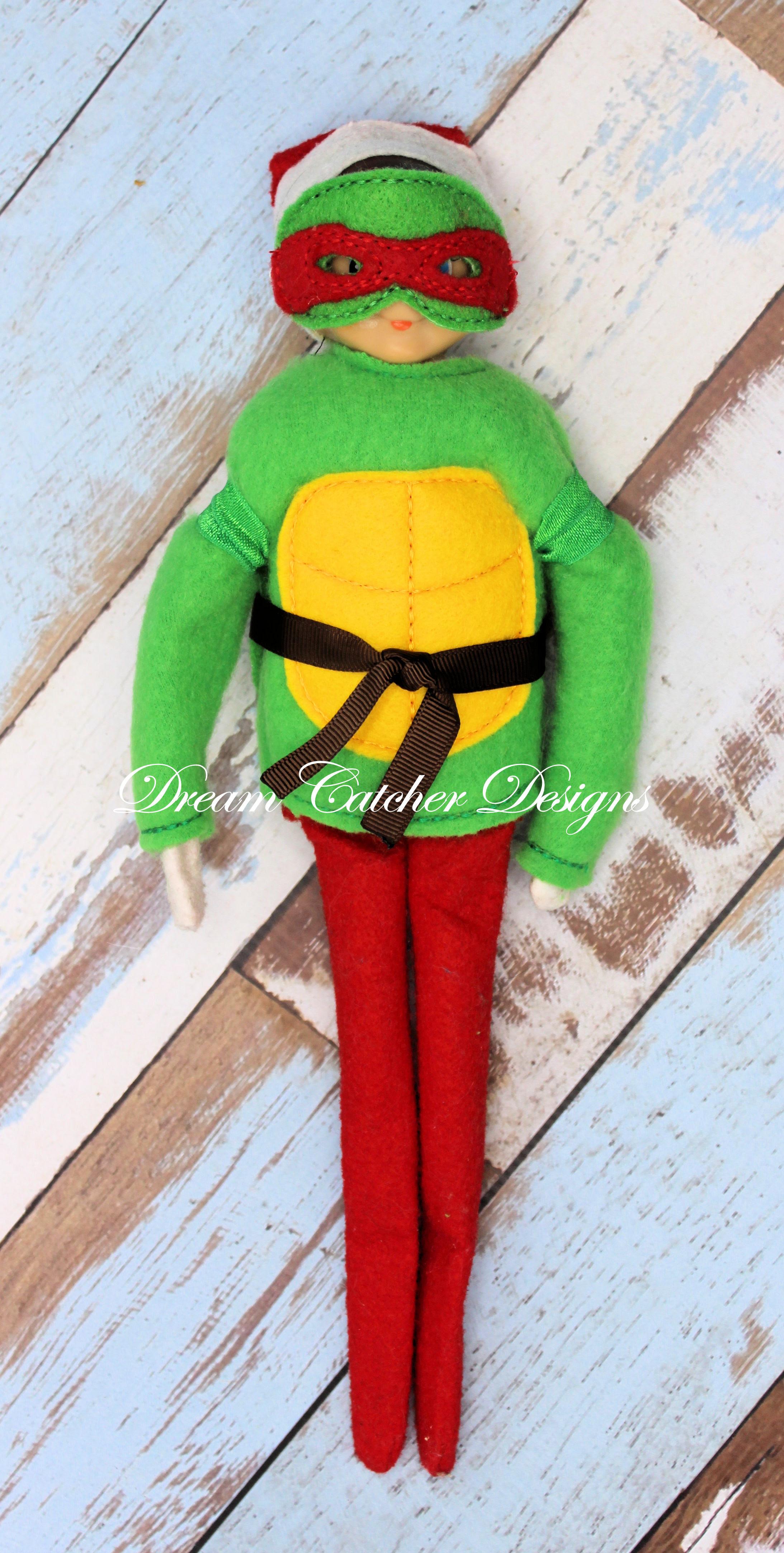 In The Hoop Warrior Turtle Bundle Set Elfdoll Christmas Embroidery