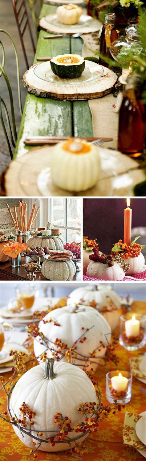 White Pumpkins for Fall Wedding Décor   Receptions