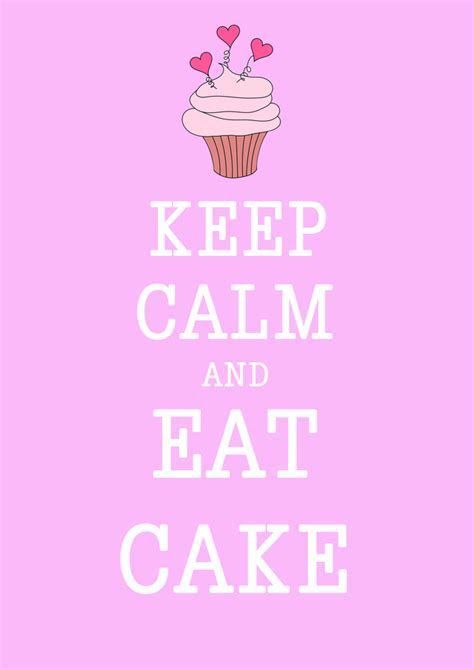 Keep calm and eat cake   Folksy