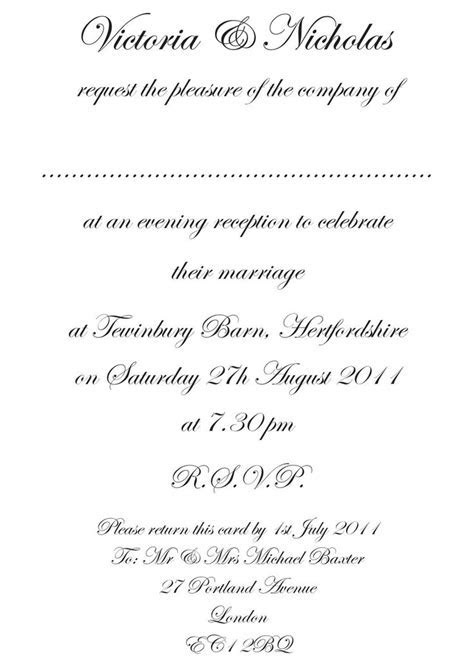 Wedding Reception Only Invitations Wording   Wedding