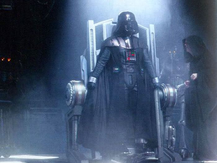 Darth Vader rises on his operating table, and turns to his new master, Emperor Palpatine, in STAR WARS: EPISODE III - REVENGE OF THE SITH.