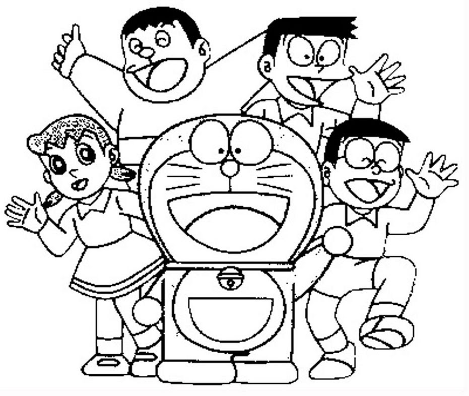 Mewarnai Doraemon Gabrez