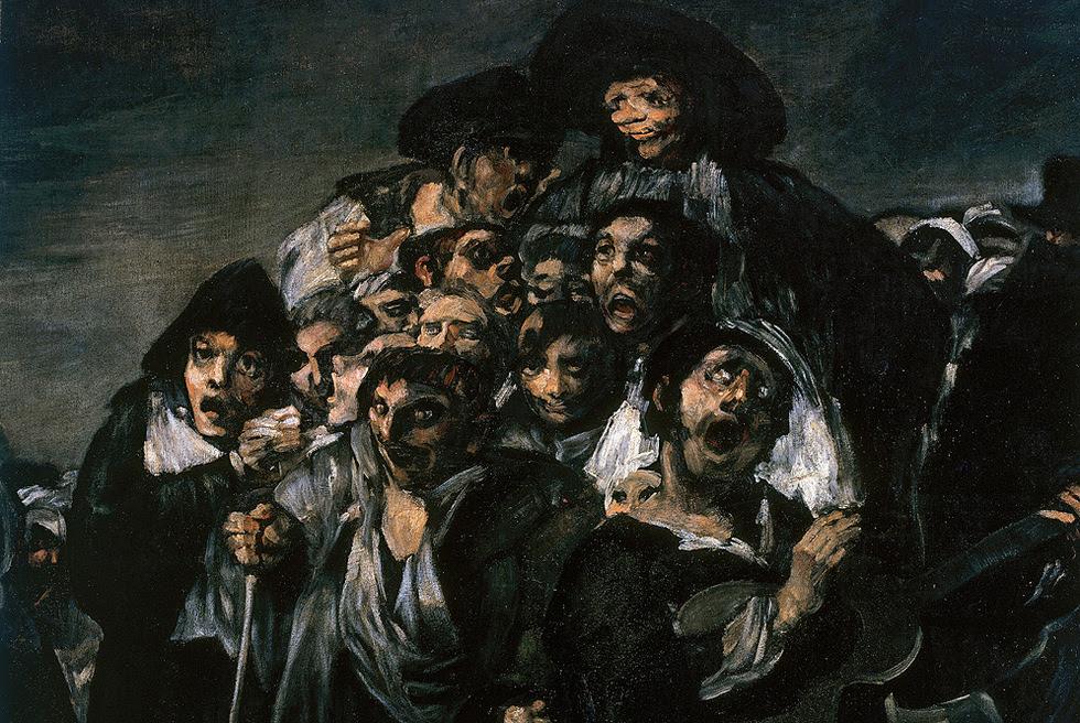 Detalle de 'La Romería de San Isidro', de Francisco de Goya