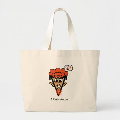 A Cute Geek Pun Large Tote Bag