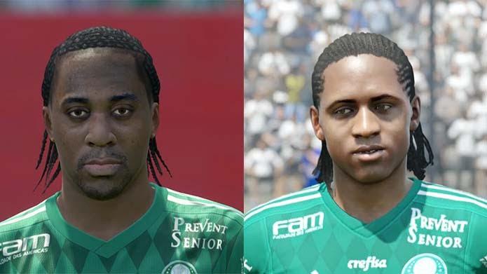 Arouca, do Palmeiras, está mais realista em PES 2016 (Foto: Reprodução/Murilo Molina)