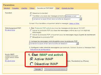 Activer l'IMAP sous Gmail
