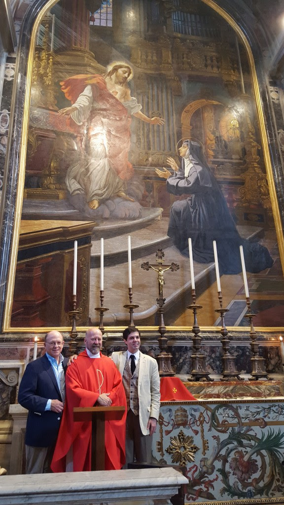 Celebrating Mass in St Peter's