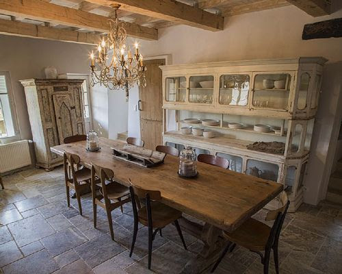 Comedor Casa rural, estilo provenzal en La Capelle et Masmolène, Francia