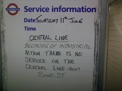Central Line during Tube Strike by Andrew Grill