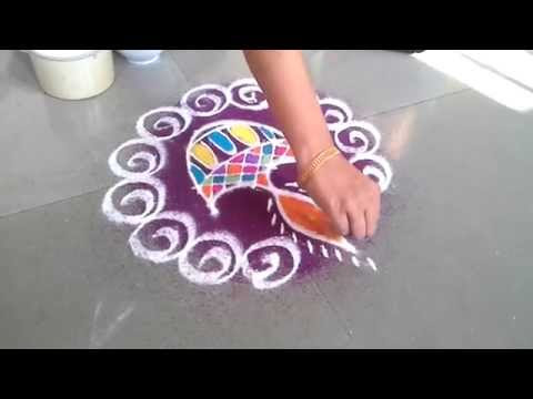 Diwali Rangoli (Kolam) Design 2016 - Get Step by step Easy Muggu Photo