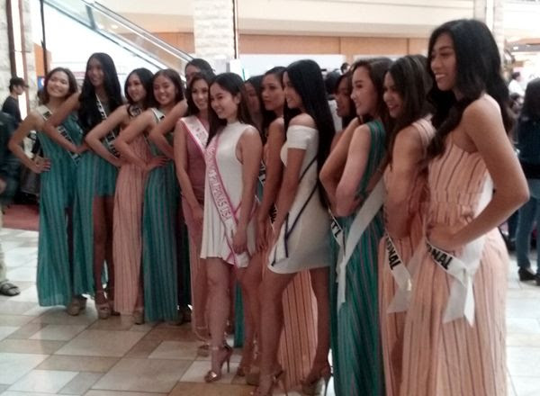 A group of models pose for photos during ASEAN Fest 2018 at Puente Hills Mall in City of Industry, California...on May 26, 2018.