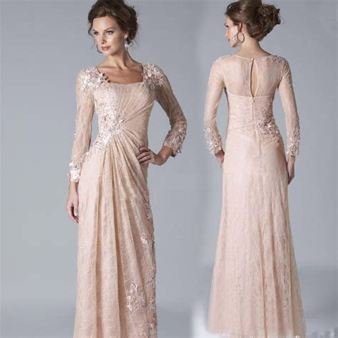2017 Sexy Chiffon Lace Evening Dresses Long Sleeves Prom
