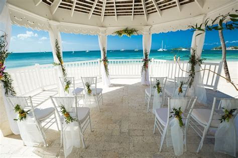 Tropical Wedding Venue at Sandals Negril in Jamaica