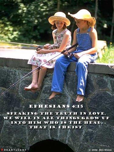 Inspirational illustration of Ephesians 4:15