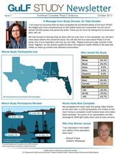 Gulf Study Newsletter Oct2013 Thumbnail