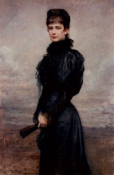 File:Horowitz portret van Keizerin Elisabeth met zwarte japon met waaier 1899.jpg
