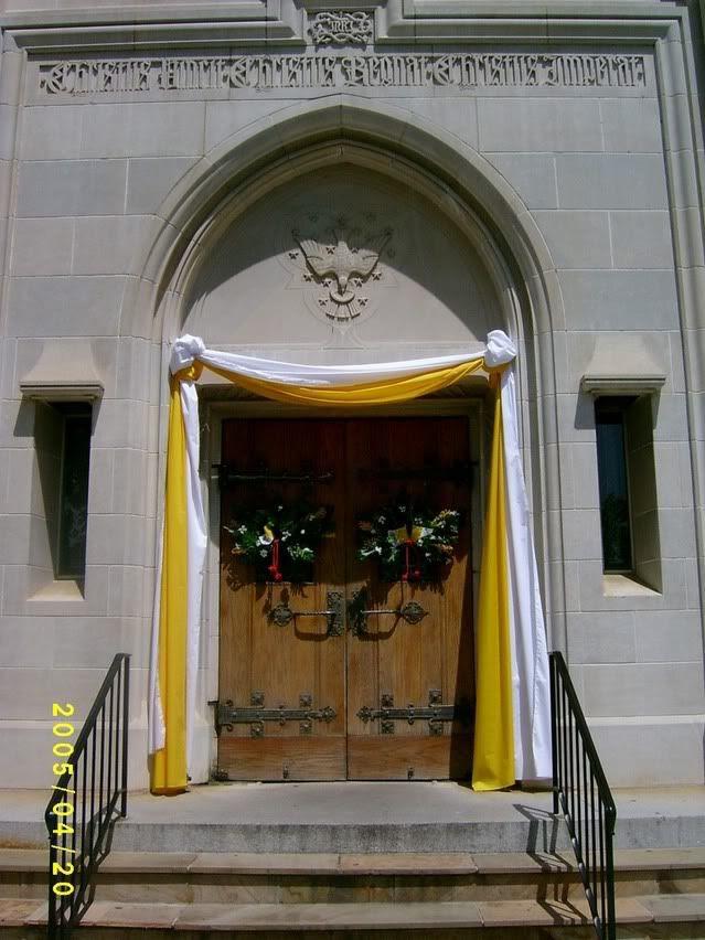 Celebration bunting at CTK Cathedral