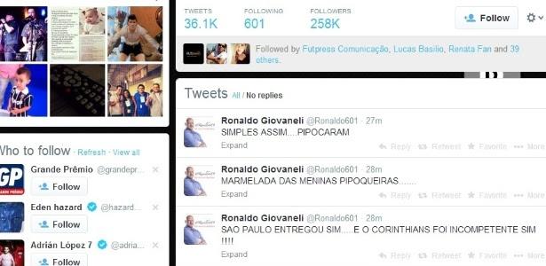 Comentarista Ronaldo critica jogadores do São Paulo no Twitter