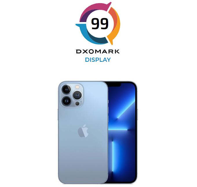 iPhone 13 Pro Max se convierte en el líder de pantalla en DxOMark