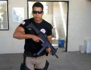 Reprodução/ Facebook | Policial militar João Tiago Leite Machado, morto a tiros em Guaibim